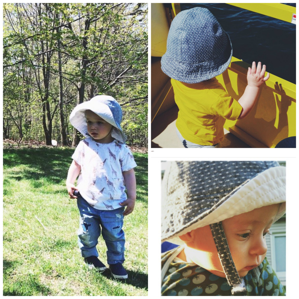 babies in sun hats