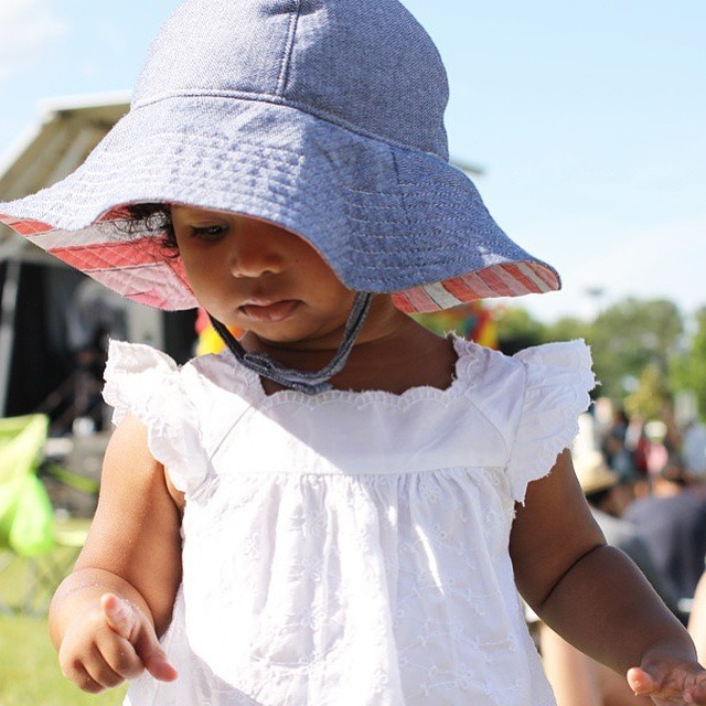 toddler denim sun hat