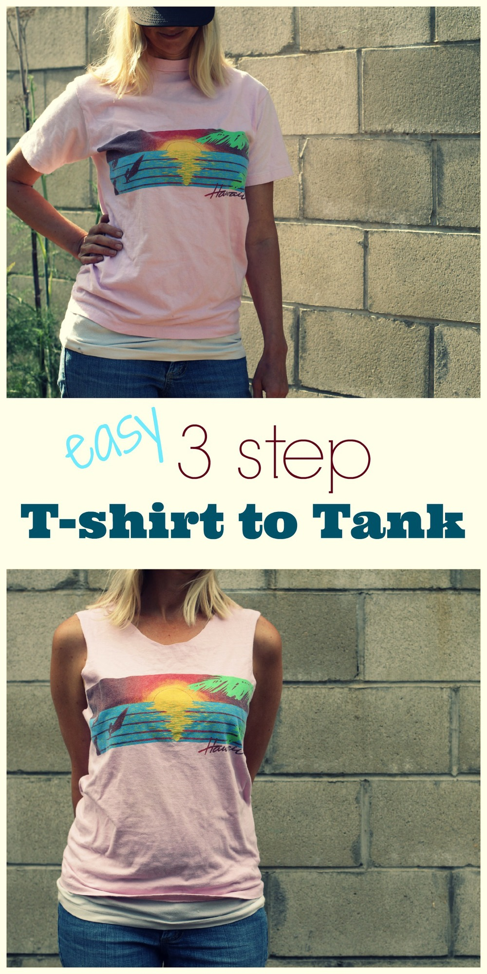 Easy T-shirt to Tank Top DIY
