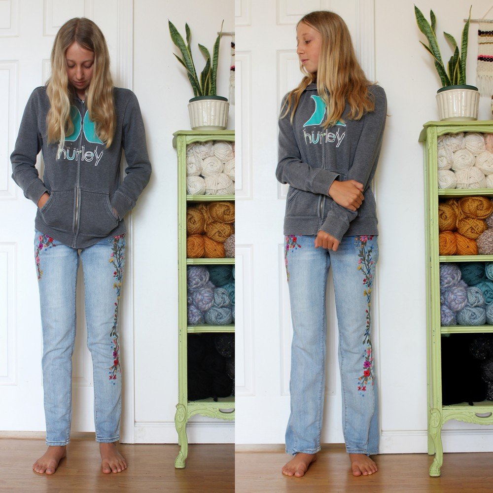 How to Make Your Skinny Jeans into Boot Cut Jeans — Blue Corduroy