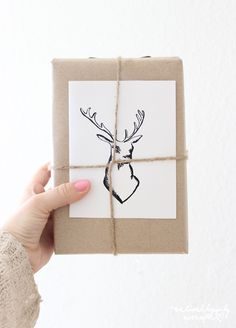 gift wrap ideas reindeer