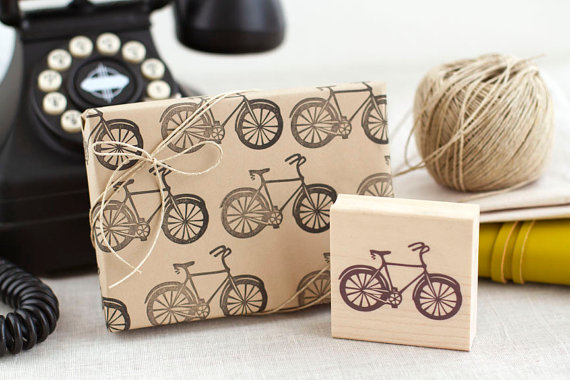 gift wrapping with stamps