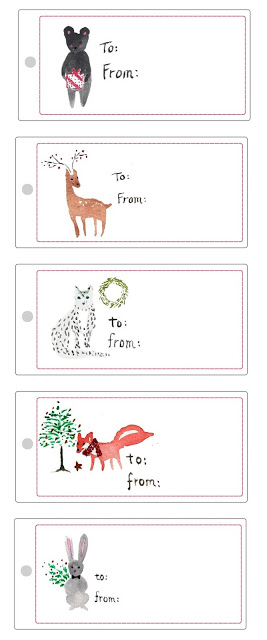 cute animal gift tags