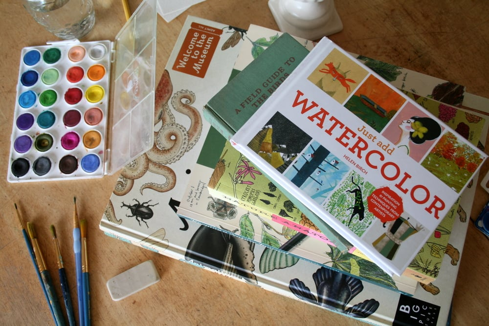 just add water watercoloring book