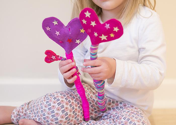 valentine heart wands