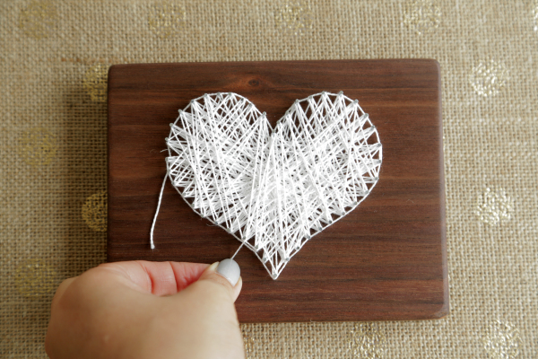 string heart diy