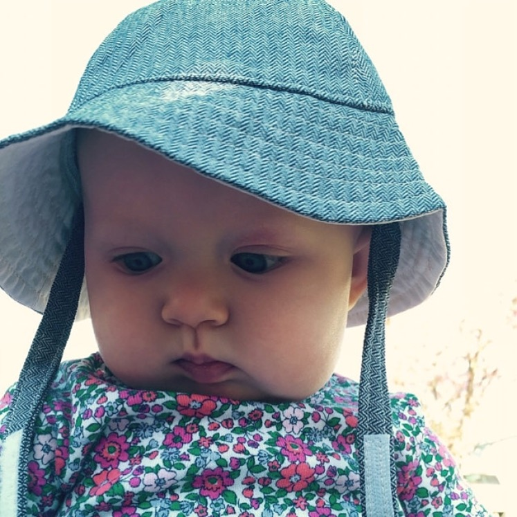 baby denim sun hat