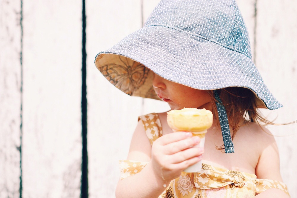 handmade baby sun hat