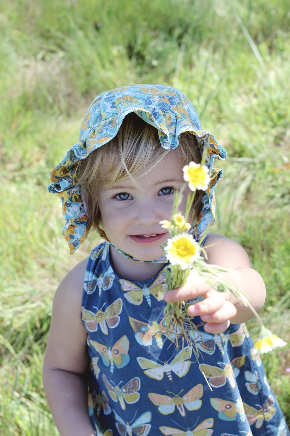 Ruffle Baby Sunbonnet by Blue Corduroy.  photo by Native Fern.