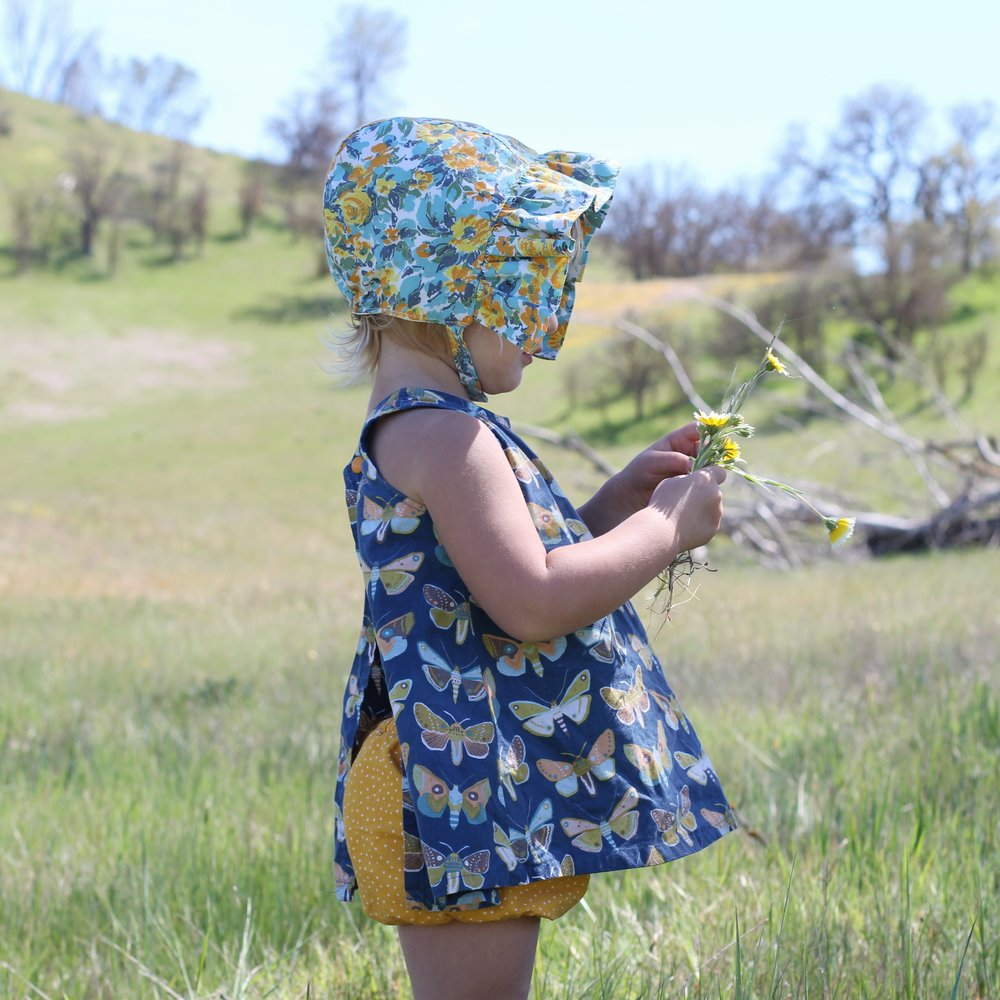 Baby Girl SunBonnet by Blue Corduroy