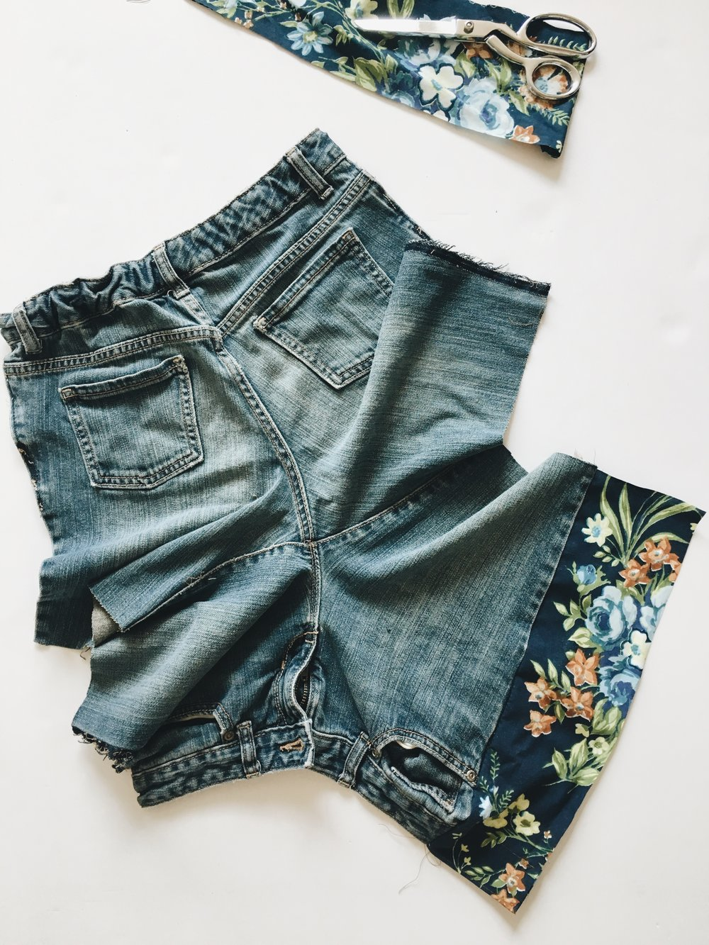 How to make your own boho style jean cut-offs