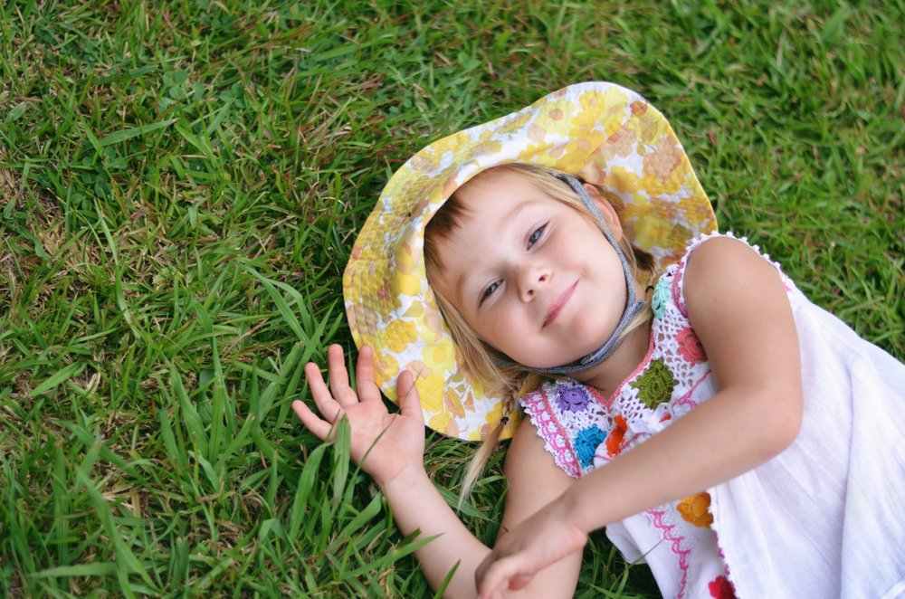 Denim Sun Hat for Girls Handmade by Blue Corduroy on Etsy