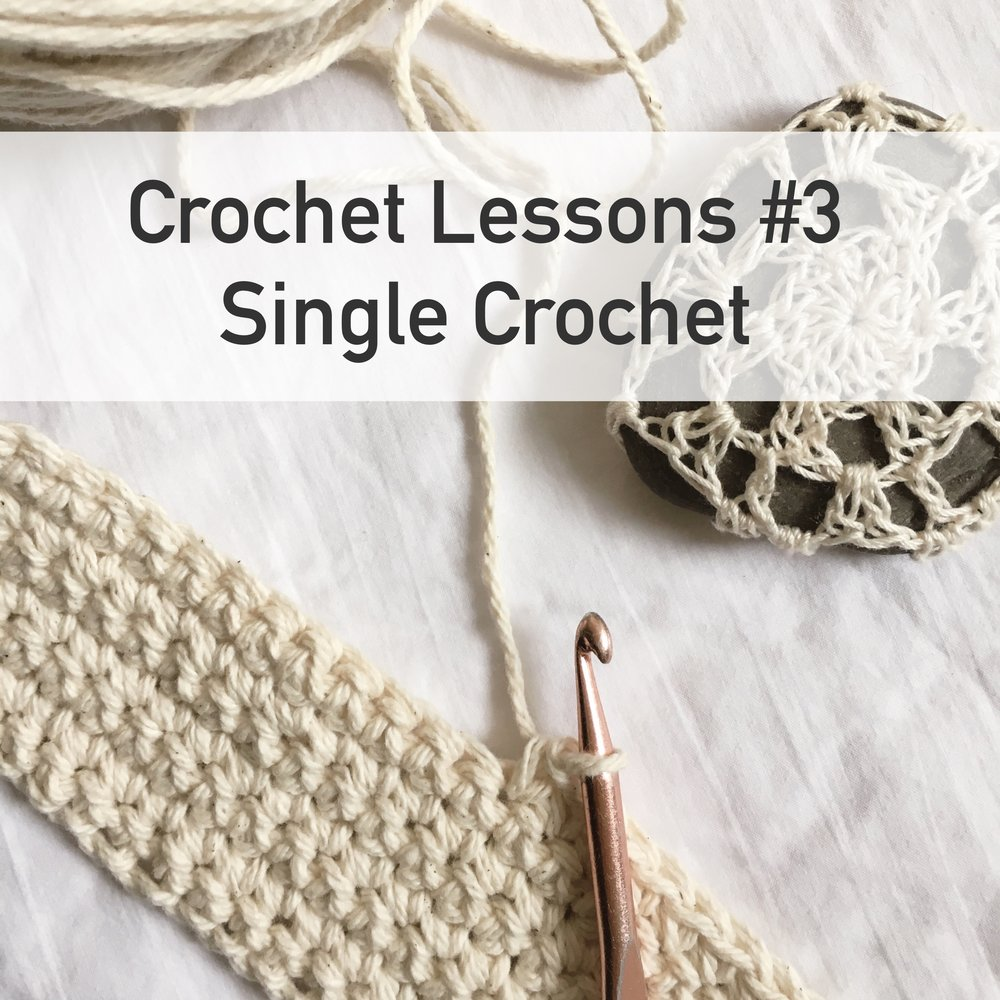 Beginner Crochet Lessons How to Single Crochet by bluecorduroy.com