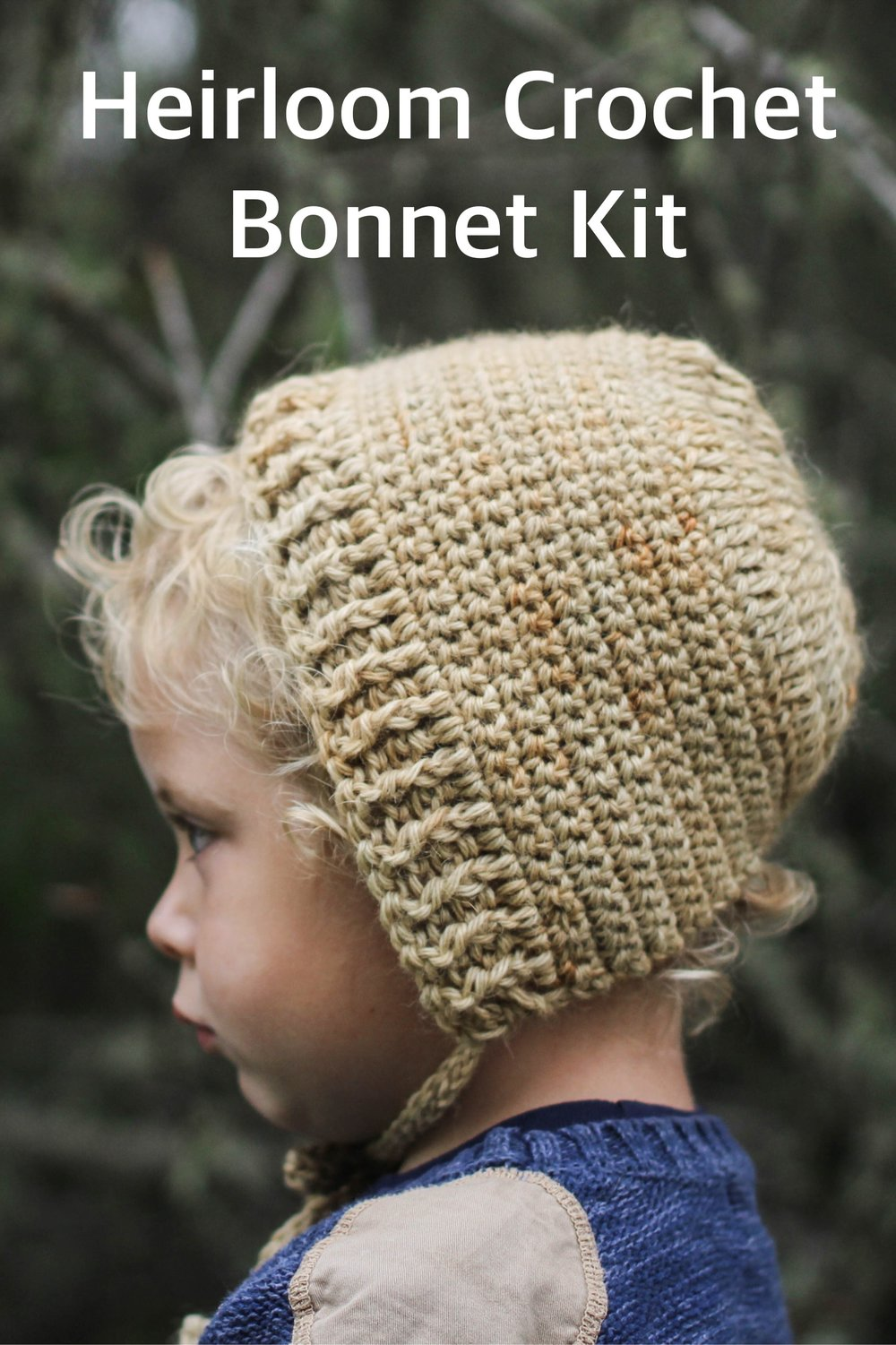 Heirloom Crochet Baby Bonnet Kit