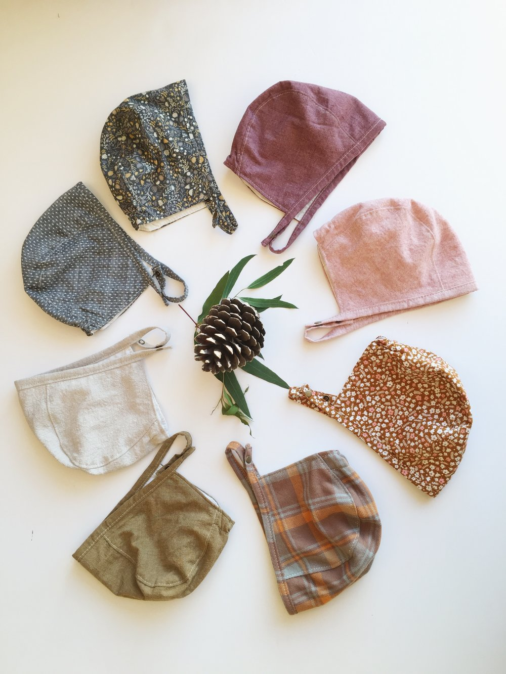 Baby Bonnets for fall style by Bluecorduroy.etsy.com