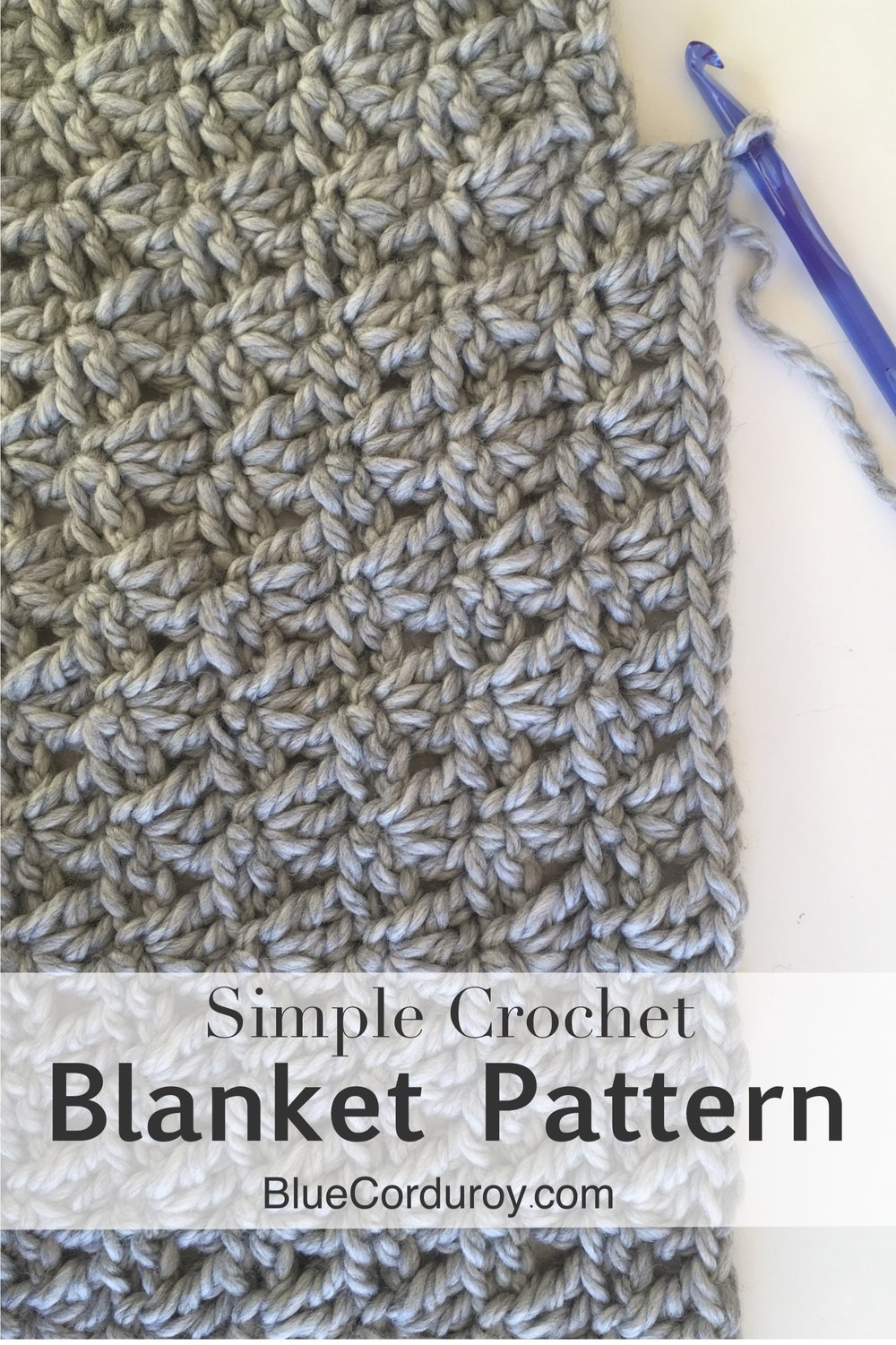 How to crochet a simple baby blanket with the shell stitch
