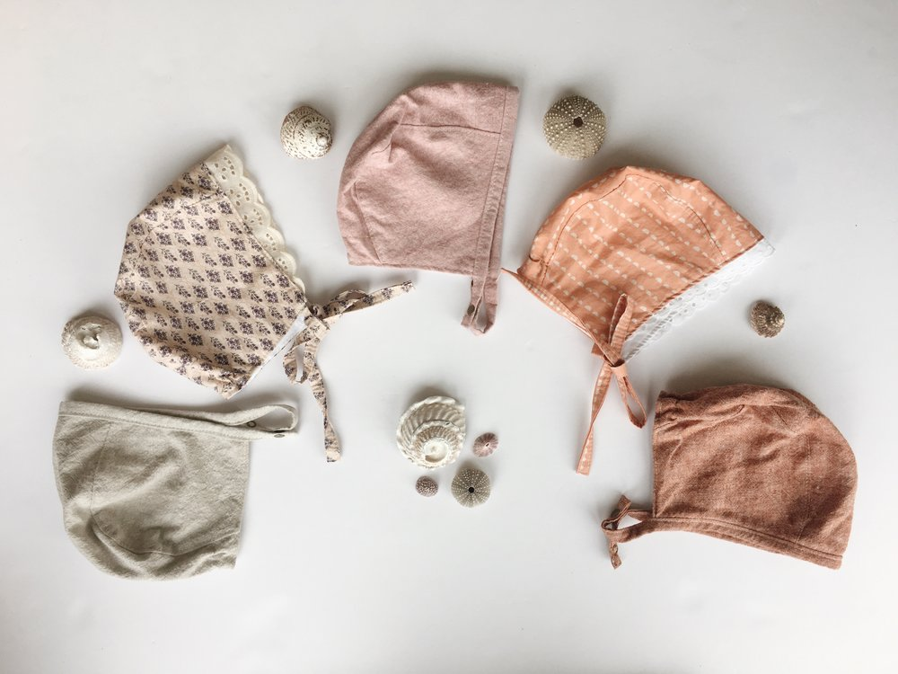 Spring Baby Bonnets by Bluecorduroy.com