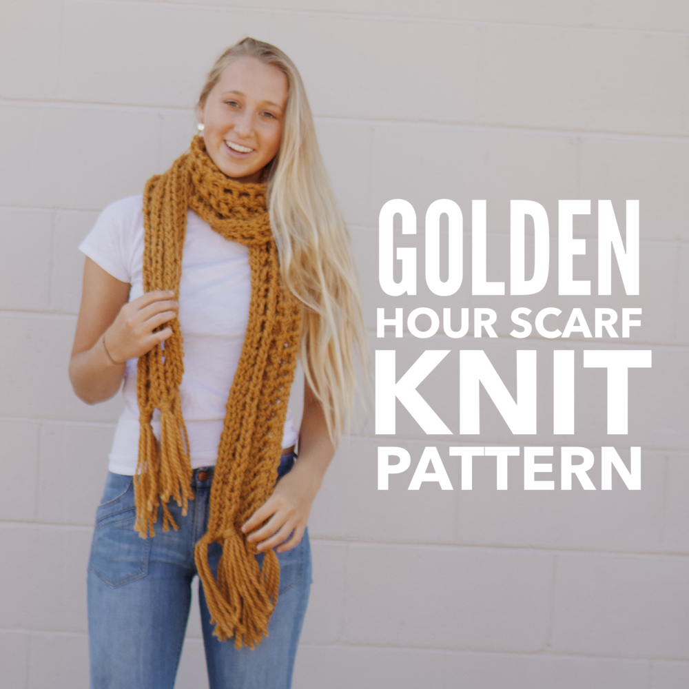 Golden Hour Scarf Knit Pattern
