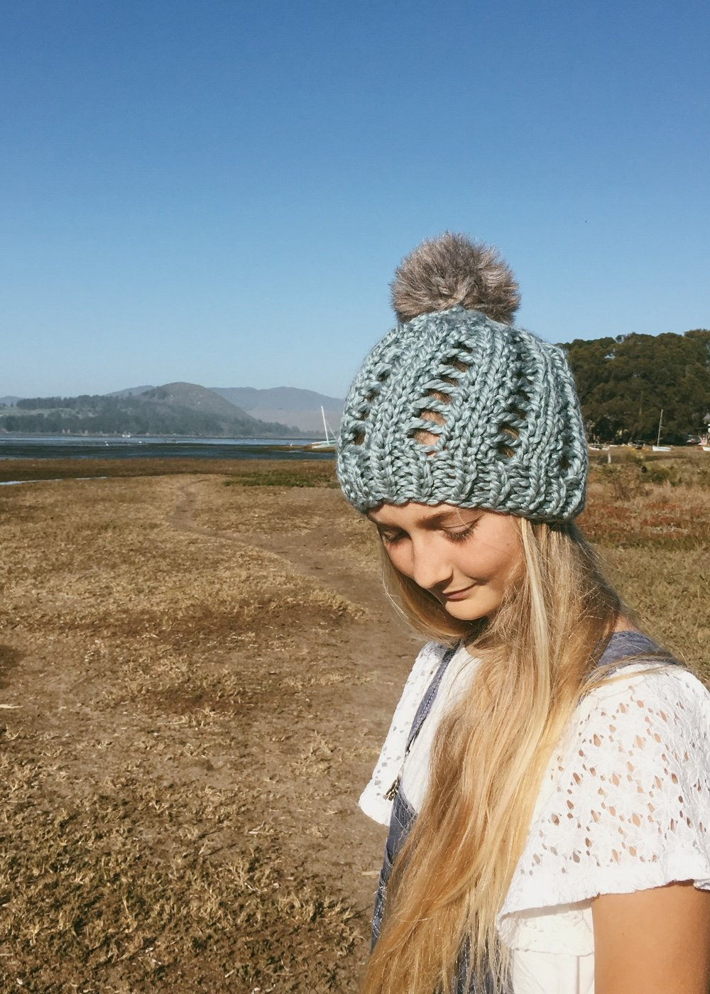 Blue Knit Beanie by BlueCorduroy.etsy.com