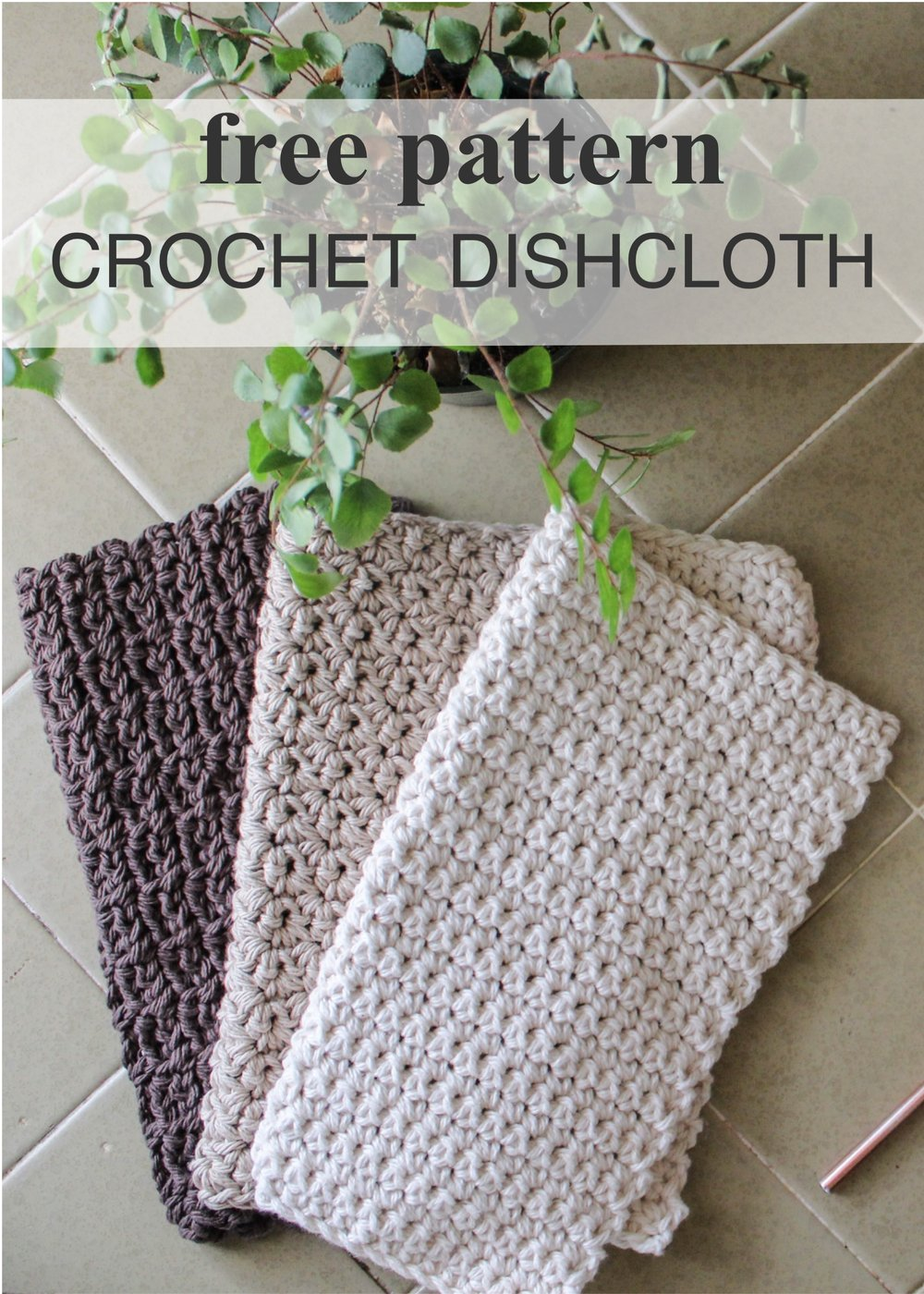 Free Crochet Dishcloth Pattern for Beginners by BlueCorduroy.com