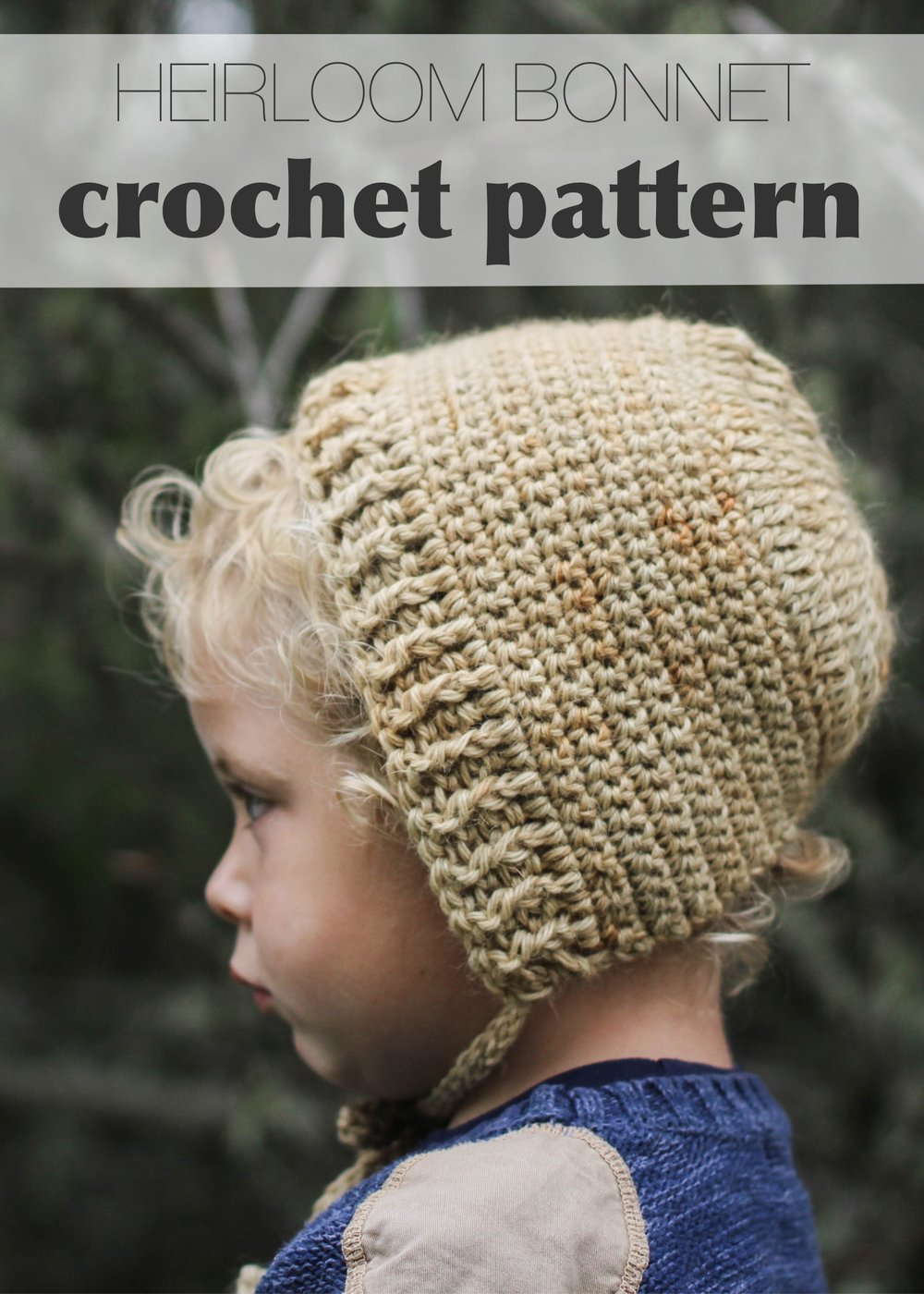 Heirloom Bonnet Crochet Pattern by Bluecorduroy.esty.com