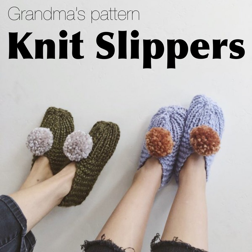 free knit slipper pattern