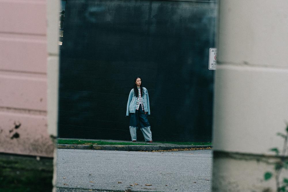 Denim Jacket by Burberry,Emoji Shirt by ALEX S. YU,Denim Trousers by ALEX S. YU
