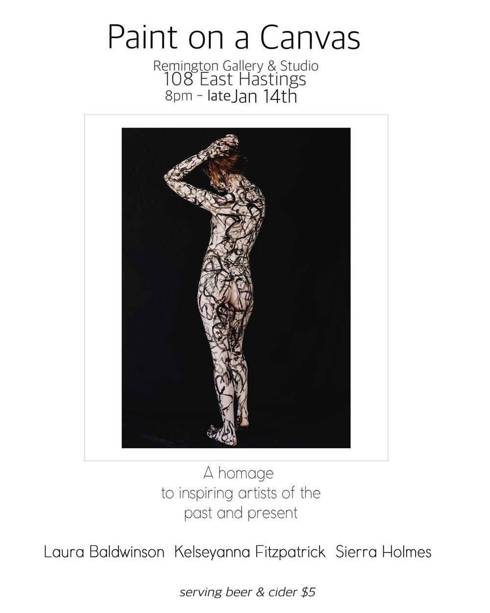 If you're in Vancouver this weekend you can't miss this show. For almost a year, photographer Laura Baldwinson and makeup artist Kelseyanna Fitzpatrick, have been working on this series, combining their immeasurable talents to create what is sure to be a spectacular body of work. We'll see you there!