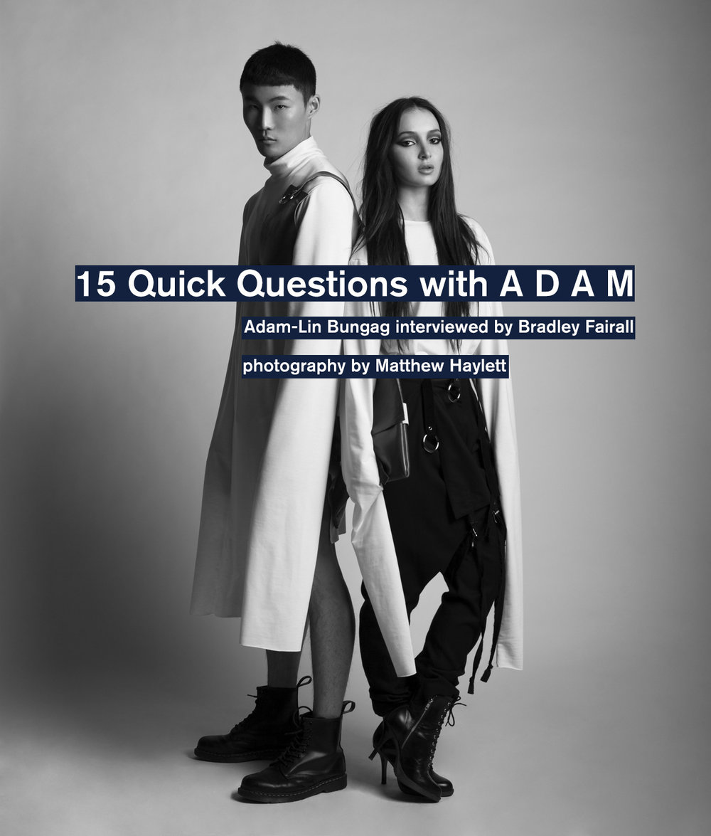 The first in a new series of interviews with emerging and established Canadian designers, click the image to read our interview with Adam of A D A M