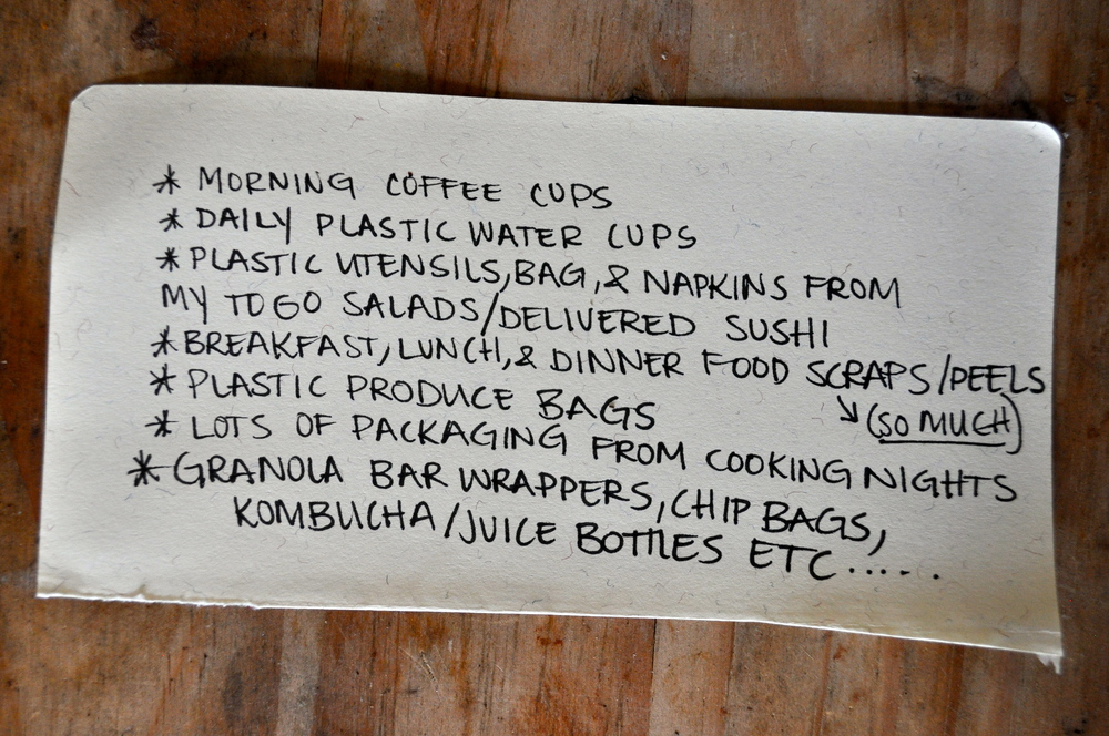 This was from a corner scrap paper in my art bin.This list was to documentwhat I was wastingin a generalday.
