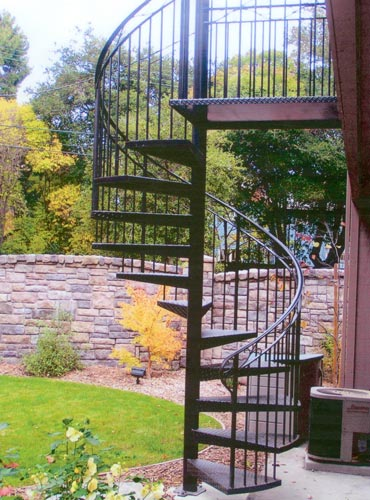 outdoor spiral staircase lighting foot diameter exterior for sale pricing