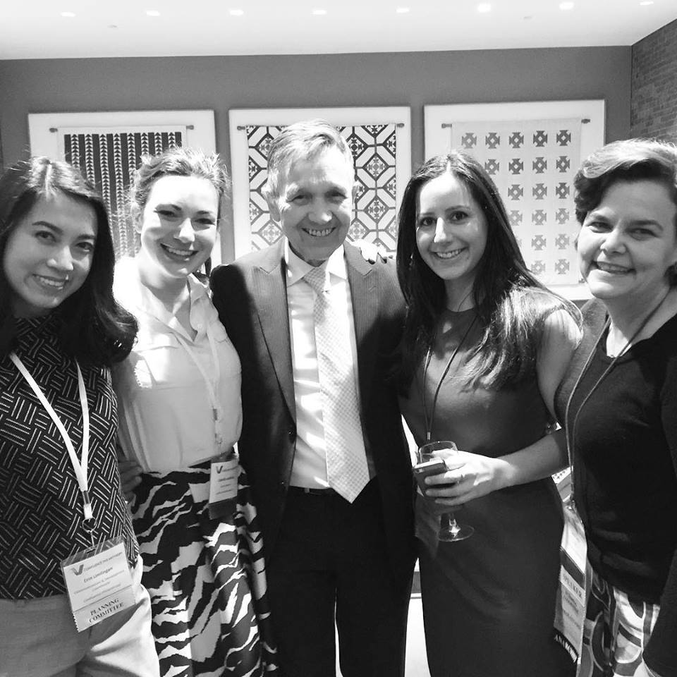 Confluence staff with 2016 conference keynote, Dennis Kucinich