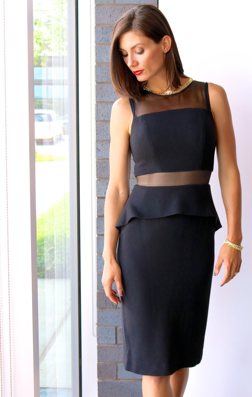 Nha Khanh Reese Sleeveless Fitted Yoke Little Black Dress Available In Store Only