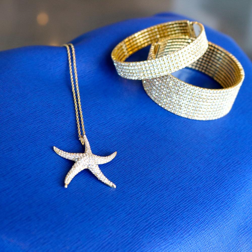 Starfish Necklace $195.00 and  5 Row Bangle $148 .00 and  10 Row Bangle  $198.00