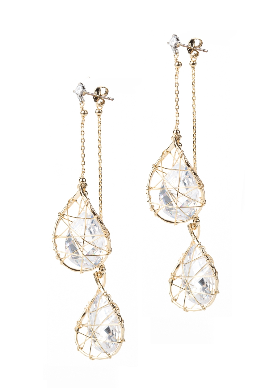 Caged Crystal Earrings $255.00
