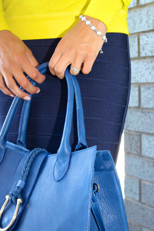 LAGGO Maxine Handbag in Cobalt; Ted Baker Bracelet (40% OFF)