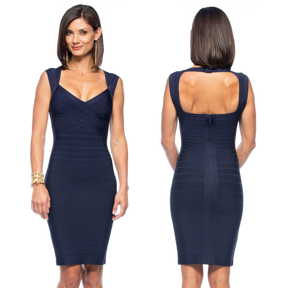 Herve Leger Sarai in Pacific Blue