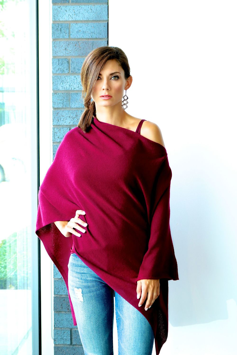 Christopher Fischer Cashmere Poncho Available In Store