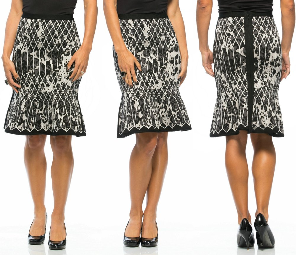 Marielle Caged Animal Print Jacquard Skirt $990