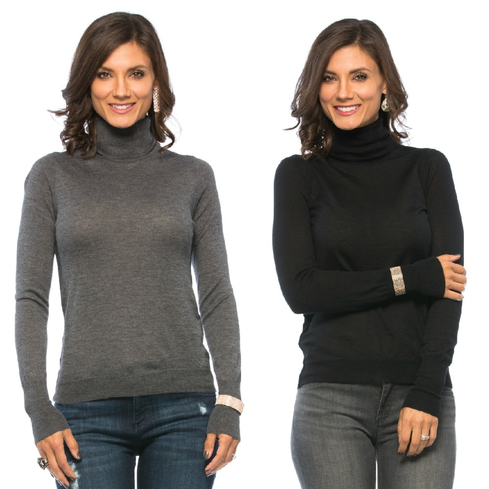 Christopher Fischer ANDREA Modern Turtleneck, 16 gauge: available in two colors