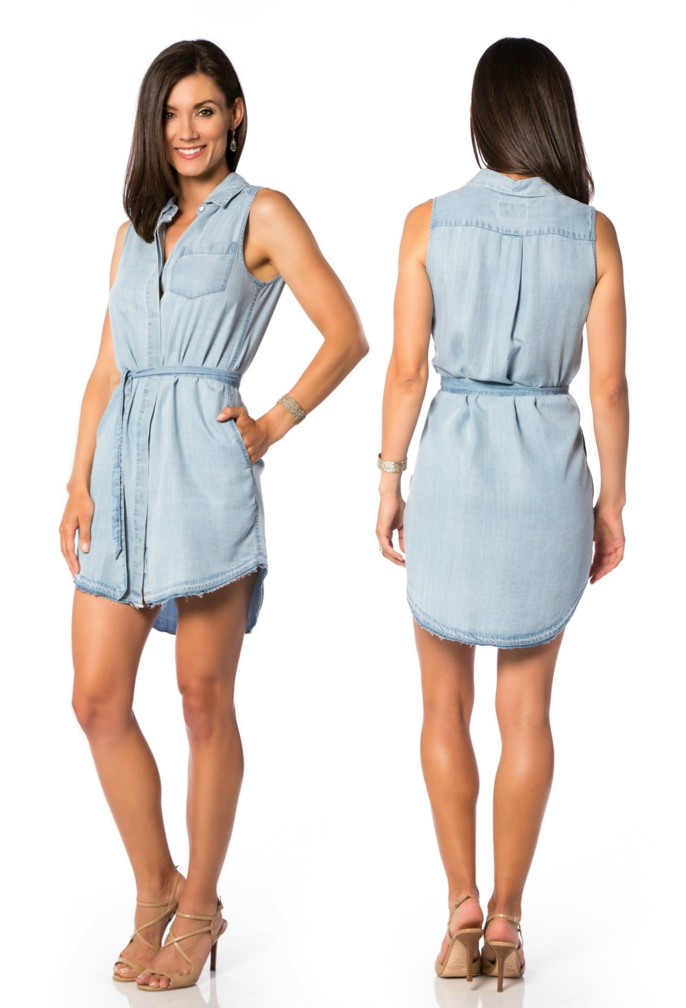 BLUE SHIRT SHOP Mercer & Spring Crosby & Broome Denim Dress Available ONLINE & In Store