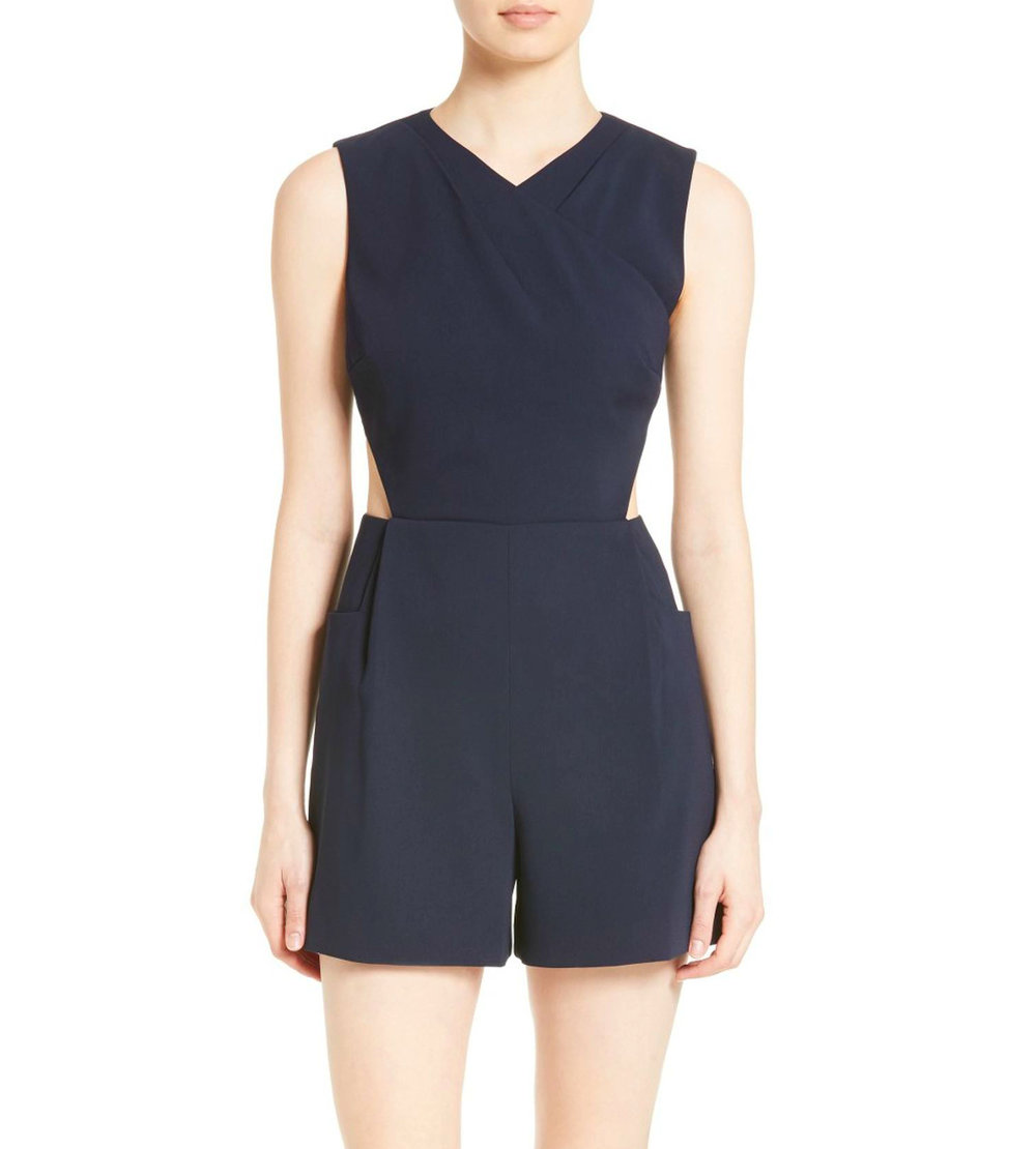 KONNEE WRAP FRONT CUTOUT PLAYSUIT $279