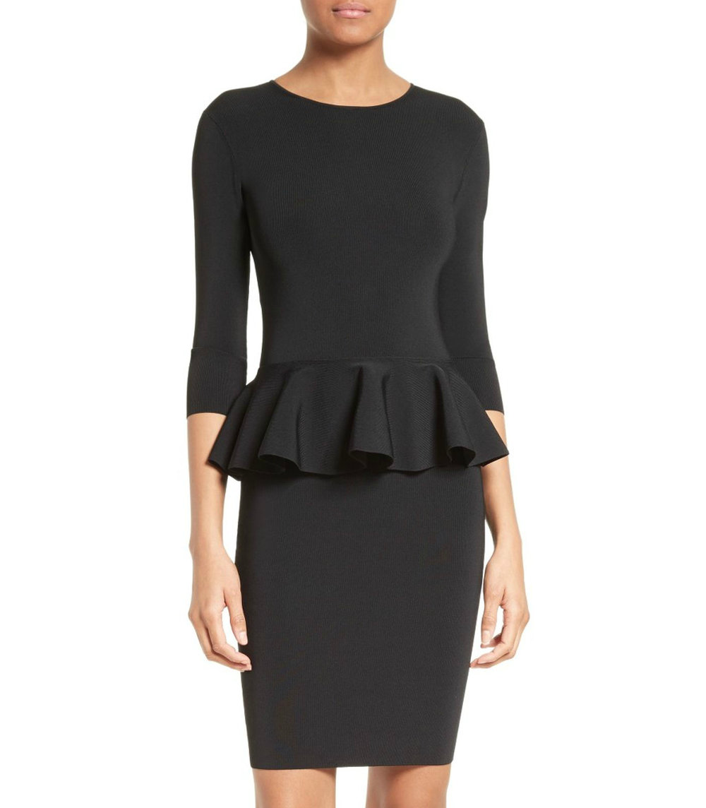 Ted Baker // JAMNIE Peplum Knitted Dress // $279