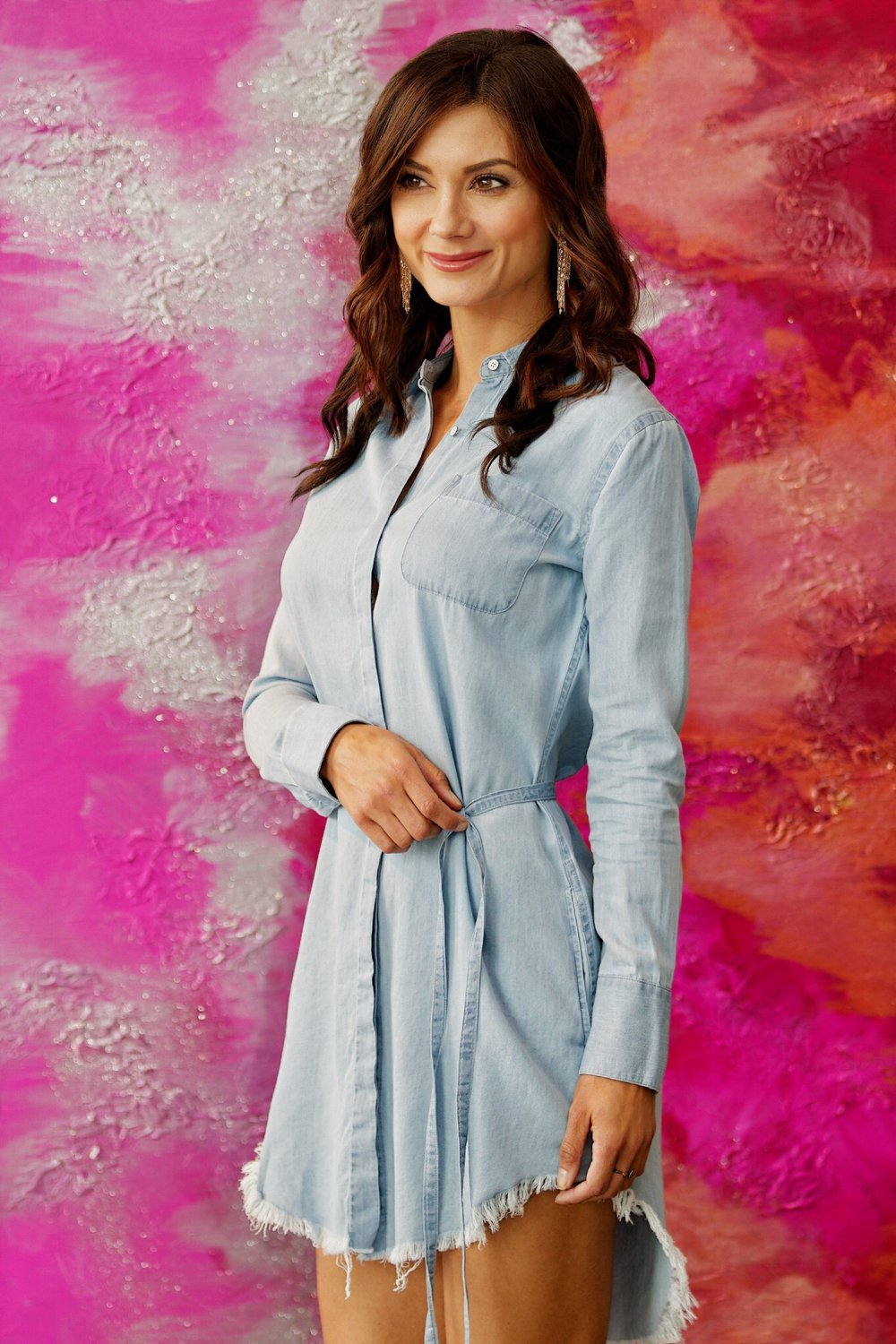 The Blue Shirt Shop Prince & Mott Dress, Midwest Chambray- Available in store