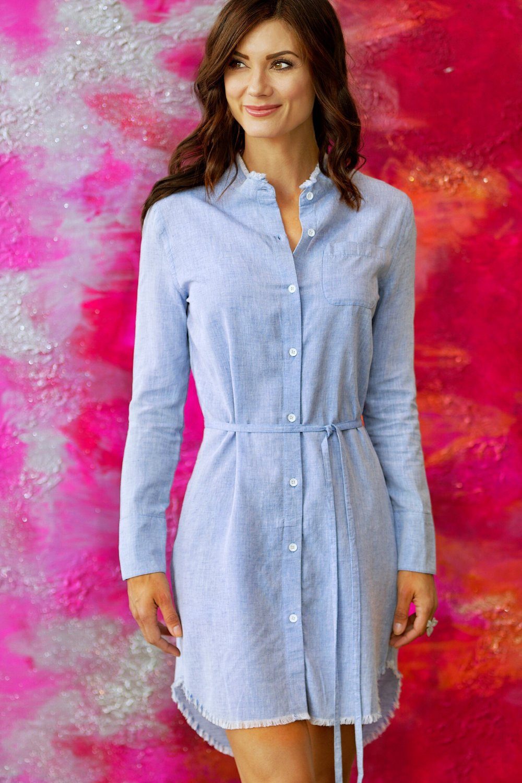 The Blue Shirt Shop - Prince & Mott Dress, Bright Blue