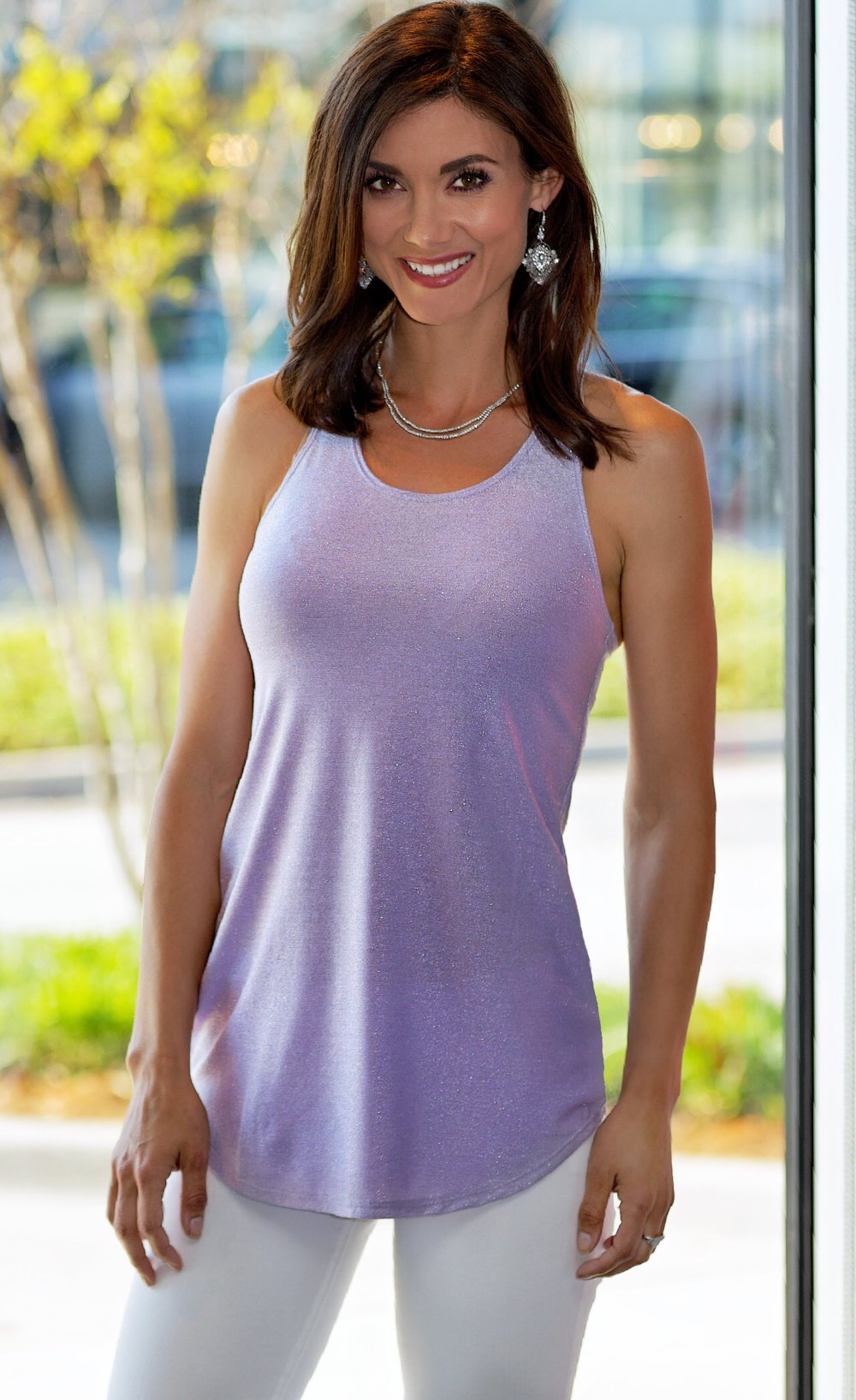 Only Hearts Racerback Tank, Lilac- Available in store.