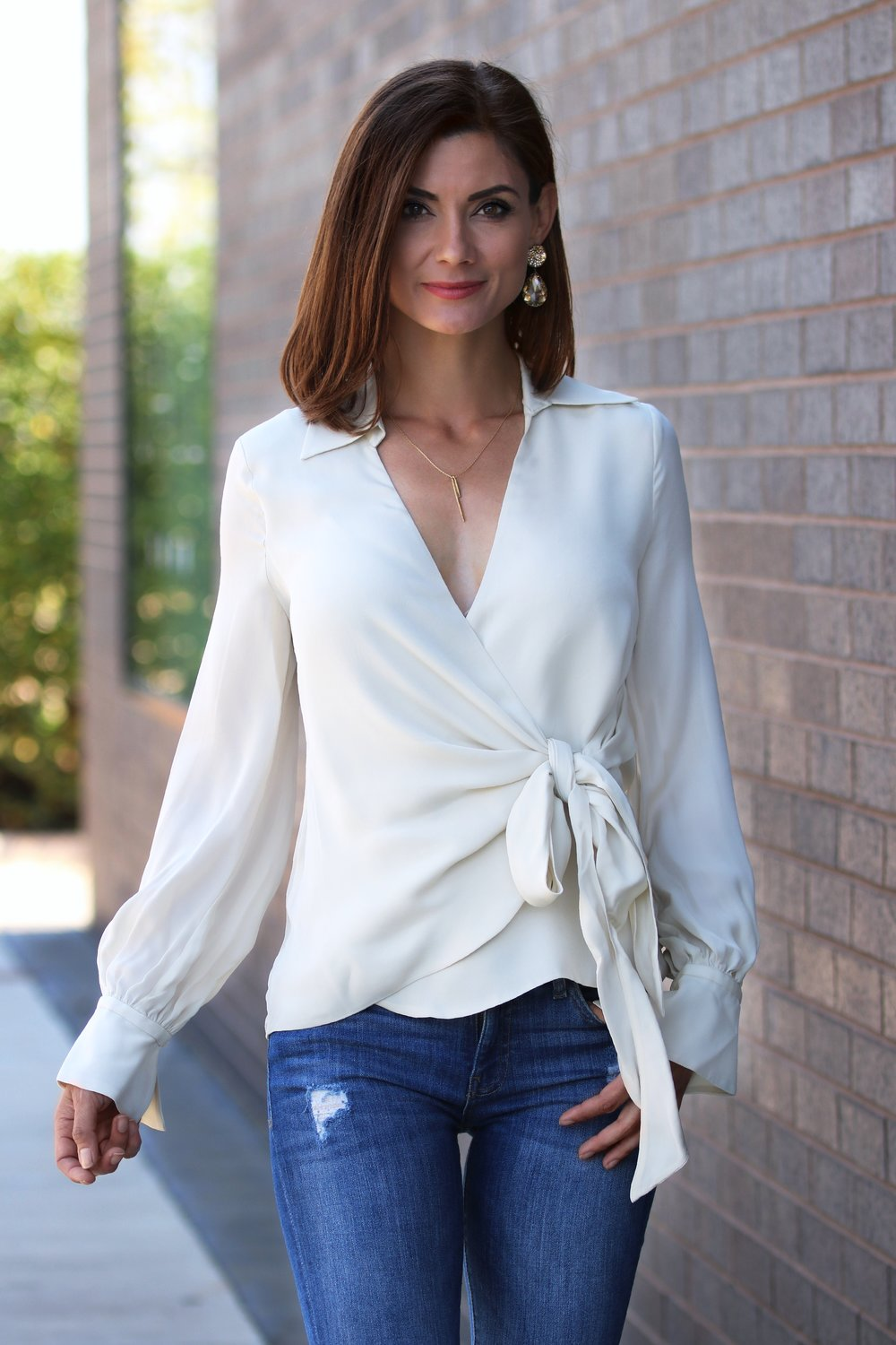 Haute Hippie Stagecoach Wrap Blouse