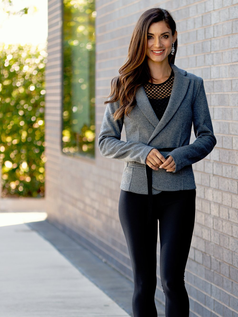 Wool/ Viscose Wrap Tie Jacket