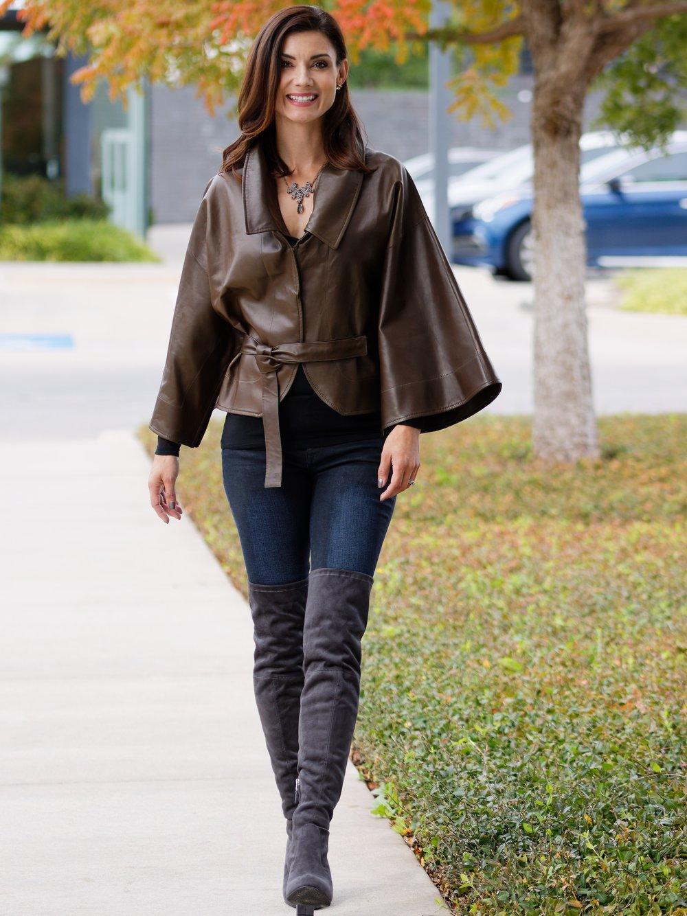 Meta Leather Convertible Jacket
