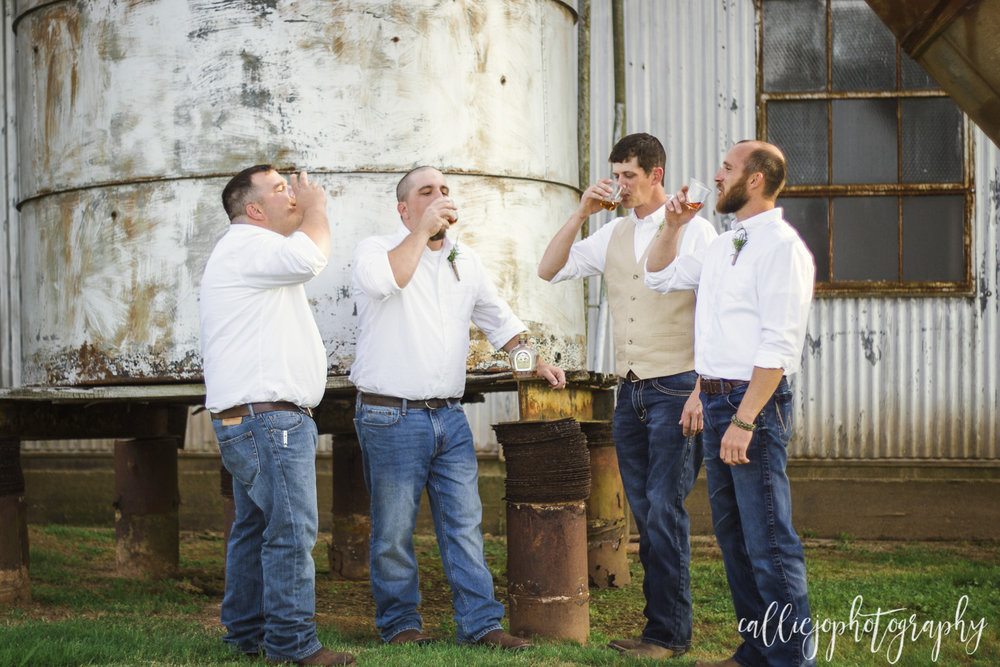A toast to the groom with their traditional Crown to get the day started!